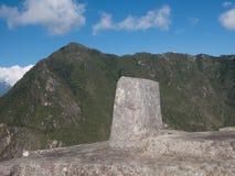 Intihuatana, το Machu Picchu, ηλιακό ρολόι Στοκ εικόνα με δικαίωμα ελεύθερης χρήσης