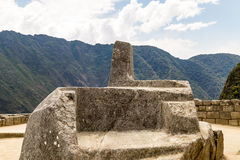 Intihuatana Altar. Machu Picchu, Cusco, Peru, South America. Stock Photography