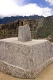 intihuatana machu秘鲁picchu石头 库存照片