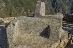 Intihuatana Machu Picchu fördärvar Cuzco Peru Royaltyfri Fotografi