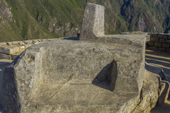 Intihuatana Machu Picchu ruins Cuzco Peru Royalty Free Stock Photography