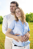 Intimacy and Relationships Concept and Ideas. Young Caucasian Co Royalty Free Stock Image