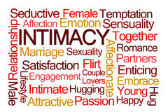 Intimacy Word Cloud Royalty Free Stock Image