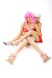 intimate 10 друзей Стоковая Фотография
