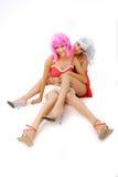 intimate 9 друзей стоковое изображение rf