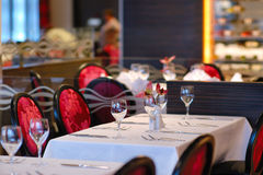 Intimate atmosphere in a restaurant. Intimate atmosphere of a modern restaurant Royalty Free Stock Photos