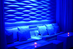 Intimate blue seating Royalty Free Stock Photo