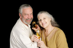 Intimate Champagne Toast Royalty Free Stock Photo