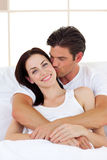 Intimate couple hugging Stock Image
