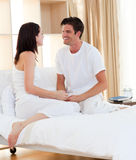 Intimate couple smiling Royalty Free Stock Image
