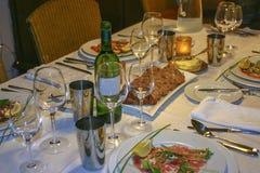 Intimate dining Stock Photos