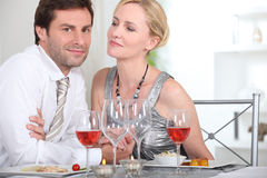 Intimate dinner Royalty Free Stock Photography