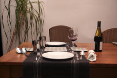 Intimate dinner at home Royalty Free Stock Image