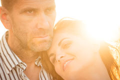 Intimate moments - couple in love Royalty Free Stock Photos