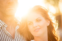 Intimate moments - couple in love Royalty Free Stock Image
