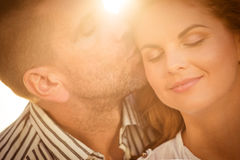 Intimate moments - couple in love Royalty Free Stock Photo