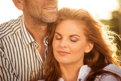 Intimate moments - couple in love Stock Photos