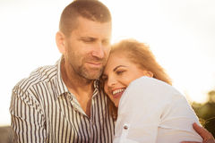 Intimate moments - couple in love Stock Images