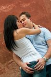 Intimate moments - young couple at Royalty Free Stock Photography