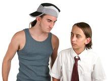 Intimidación del Bully de escuela Fotografía de archivo libre de regalías