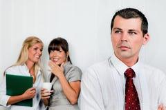 Intimidatie bij het werk in het bureau Royalty-vrije Stock Afbeelding