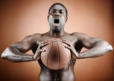 Intimidating player Royalty Free Stock Photo