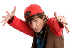 Intimidating teenage boy Royalty Free Stock Image
