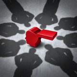 Intimidation Of Whistleblower Stock Images