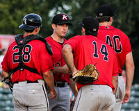 Intimidators on the mound. Royalty Free Stock Photos