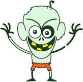 Intimiderende Halloween-zombie die schadelijk zijn Royalty-vrije Stock Foto