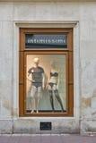 Intimissimi sklepu gablota wystawowa w Krakow Starym miasteczku, Polska Fotografia Stock