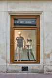 Intimissimi store showcase in Krakow Old Town, Poland. Stock Photography