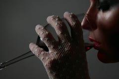 Intimità rubata - la diva Fotografia Stock