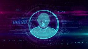 Intimité dans le cyberespace illustration libre de droits