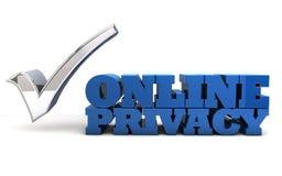 Intimité en ligne - problèmes de sécurité d'Internet Illustration Libre de Droits