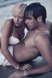 Intimiteit op het strand royalty-vrije stock foto's