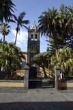 Intitute amarelo, La Laguna, Tenerife imagens de stock royalty free