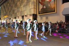 Hong Kong :Intl Chinese New Year Night Parade 2013 Stock Photo