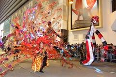 Hong Kong :Intl Chinese New Year Night Parade 2013 Royalty Free Stock Photo