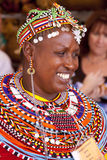Intl Folk Art Market annually, Santa Fe, NM USA. International Folk Art Market held annually in Santa Fe, New Mexico,  USA, woman from Kenya, Africa Stock Photography