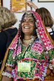 Intl Folk Art Market annually, Santa Fe, NM USA. International Folk Art Market held annually in Santa Fe, New Mexico, USA, woman from India Stock Image