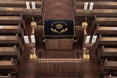 Intnnier της χορωδιακής συναγωγής της Μόσχας Η θέση ανάγνωσης Torah, μπορεί στοκ εικόνα με δικαίωμα ελεύθερης χρήσης