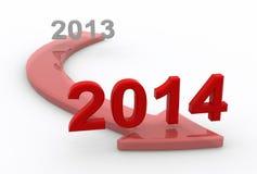Into 2014 Royalty Free Stock Photos