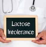 Intolérance au lactose Photos stock