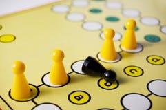 Intolerancia en un juego de mesa Foto de archivo libre de regalías