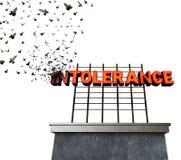 Intoleranz-Philosophie-Konzept lizenzfreie abbildung