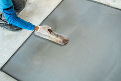 Intonacare il cemento di terrazzo Fotografie Stock