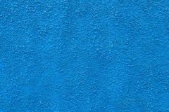 Intonaco blu Fotografie Stock