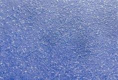 Intonaco blu di struttura per la decorazione Fotografia Stock