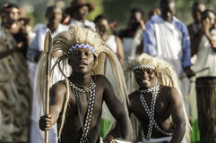 Intore Dancers in Rwanda Stock Image